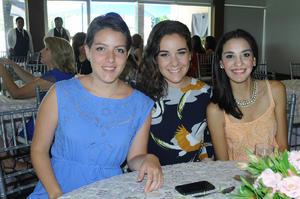 María Bravo, Cecilia Morales y Andrea Garza