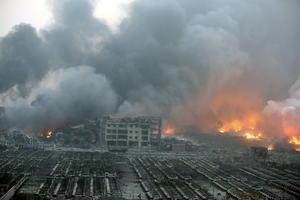 Así lucía el jueves temprano el lugar de las explosiones.