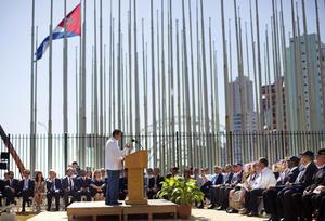 El poeta cubano-americano Richard Blanco leyó un poema especialmente dedicado para la ocasión.