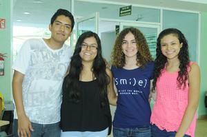 Aldo Vladimir Reyes, Martha Alicia González, Melina Valdés y Karla Rodríguez