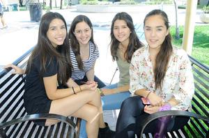 Lorena, Mariana, Ana Karla y María Natalia