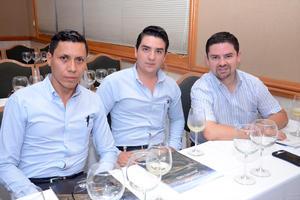 Jesús Dena, Jorge Hurtado y Bernardo Muñoz