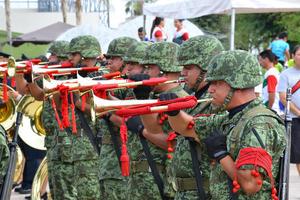 La banda de música de la onceava Región Militar participó en la ceremonia.