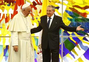 Visitó el Palacio de la Revolución de La Habana, junto con el presidente Raúl Castro.
