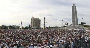 Miles de personas asistieron a la celebración eucarística.