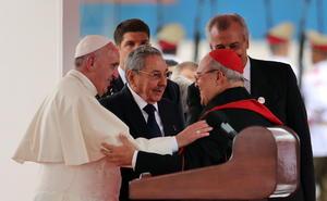 El arzobispo de la Arquidiócesis de La Habana, Jaime Ortega también dio la bienvenida al Papa.