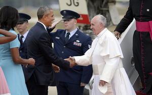 El presidente estadounidense, Barack Obama dio la bienvenida al Papa Francisco.