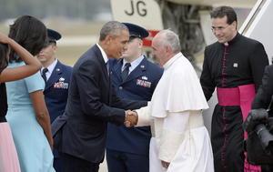 El Papa Francisco llegó a Estados Unidos, país donde realizará una visita de cinco días.