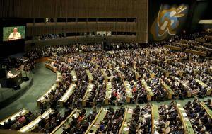 """Finalmente, urgió a la Organización de Naciones Unidas (ONU) a pasar del """"declaracionismo tranquilizador de conciencias"""" a una voluntad efectiva para combatir los grandes flagelos de la humanidad."""