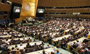 El papa Francisco se convirtió en el primer pontífice que se dirigió a un gran número de gobernantes mundiales en la Asamblea General de Naciones Unidas.