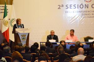 La titular de la Procuraduría General de la República (PGR), Arely Gómez González, encabezó la Segunda Sesión Ordinaria 2015 de la Conferencia de Procuración de Justicia Zona Noreste y Noroeste.
