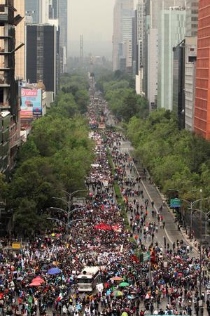 Las protestas por la desaparición de los 43 normalistas de Ayotzinapa traspasó fronteras.