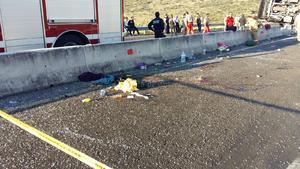 El accidente dejó 22 lesionados, 5 de ellos de gravedad.