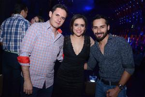 Felipe García, Anni Avilés y Alejandro Jerezano
