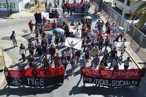 Fueron en su mayoría estudiantes de la Facultad de Ciencias Políticas y Sociales de la Universidad Autónoma de Coahuila.