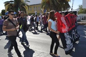 Los alumnos realizaron una marcha y una manifestación.