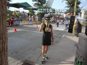 02102015 ATLETA.  Mario Sosa Reyes completando su décima carrera SIMSA 2015.