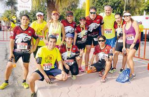 08102015 PARTICIPAN EN CARRERA.  Galgos Running Team.