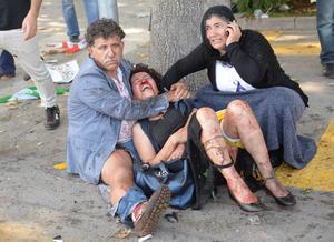 Imágenes desgarradoras se vieron en Ankara.