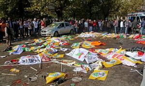 La protesta pretendía pedir una mayor democracia y el fin de la reanudación de la violencia entre los rebeldes curdos y las fuerzas de seguridad turcas.