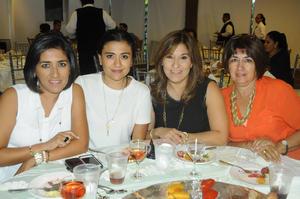 Silvia, Guadalupe, Danais y Erika.