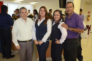 Gerardo Gómez, Guadalupe García, Lupita Santos e Isaac Cervantes.
