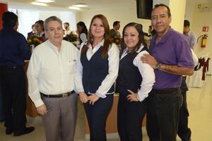13102015 Gerardo Gómez, Guadalupe García, Lupita Santos e Isaac Cervantes.