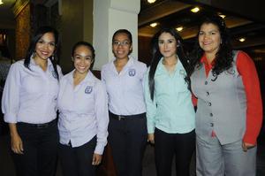 18102015 Patricia Casas, Jesenia, Jael Guerrero, Cristina Alonso y Lorena Puentes.