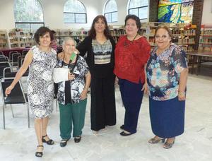 21102015 Esther Campero, Aurora del Valle, Raquel Castillo y Silvia Amador.