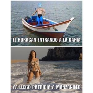 Hay gente burlándose con memes del huracán Patricia en México.