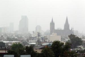 La capital de Jalisco registró luego fuertes lluvias.