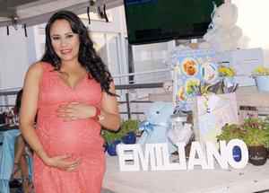 26102015 ESPERA A EMILIANO.  Lorena Villarreal en su baby shower.