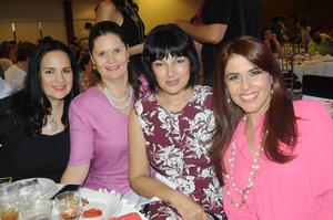 28102015 CONTENTAS.  Elisa, Susana, Ingrid y Ana.