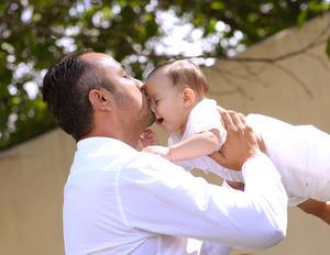 Con su papá
