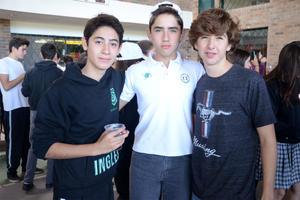 Andrés, Mario y Rodrigo
