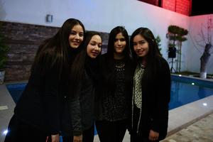Paulina, Andrea, Cecilia y Andrea