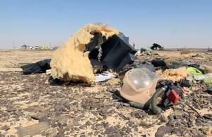 Según testigos oculares, el avión de la aerolínea rusa Kogalimavia (Metrojet), un Airbus A-321, ya ardía en llamas antes de chocar contra la tierra.