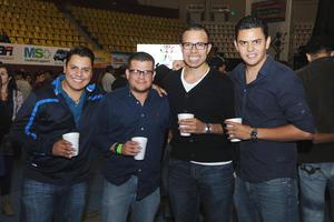 06112015 Paco Carranza, Ricardo Rodríguez, Efrén Ruiz y Fito Lechuga.