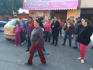 La manifestación estuvo integrada por ciudadanos procedentes de varias colonias de Torreón.