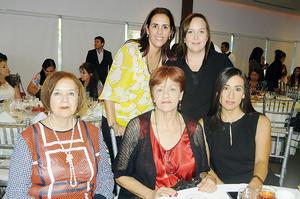 08112015 EN RECIENTE EVENTO.  Lorena, Marcela, Blanca, Lydia y Patricia.
