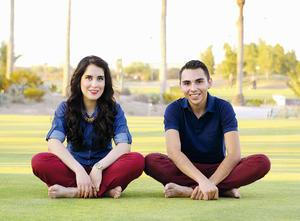 08112015 FELICES.  Martha Olvera y Jair Hernández celebraron el pasado 16 de octubre 4 años de noviazgo.
