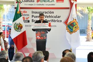 """Asegura que """"Coahuila y Torreón tienen ahora un nuevo rostro, porque se realizan acciones no por ocurrencias, sino que se le está dando a Torreón lo que realmente necesita""""."""