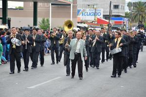 La música no podía faltar en el desfile.