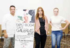 15112015 Rodrigo Lumbreras, Valeria Ortiz y Cristy Motola.