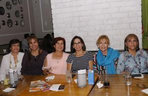16112015 ENTRE AMIGAS.  Mary, Alicia, Flor, Dora, Conchis y Geny.