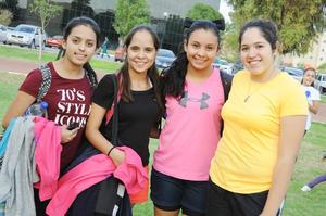 17112015 Sandy Bonilla, Marcela Prado, Pamela Luna y Alejandra Leal.