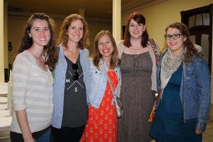 19112015 Melissa Harman, Chelsea Weber, Taryn Syrstad de Leal, Amanda Rydberg y Lindsay Knon.