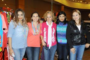 23112015 Nina Ríos, Claudia Luján, Lorena Luévano, Lolis Márquez y Cristina Martínez.