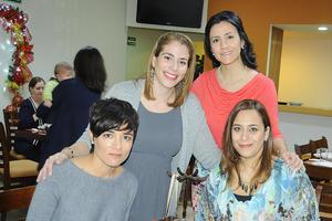 24112015 Ruth Medrano, Itzel de Ganem, Marcela Romo y Ale Maisterrena.