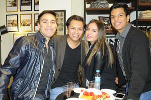 25112015 Edmundo Trujillo, Rafael Barrán, Cecilia Medina y Manuel Espinoza.